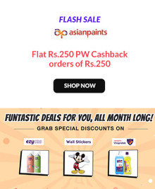 ASIAN PAINTS FLASH SALE | Flat Rs.250 PW Cashback on Order Rs.250