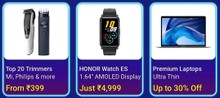 Get up to 60% Off on Trimmers, Smartwatches, Laptops