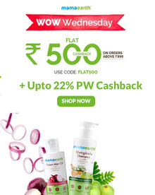WOW WEDNESDAY SALE | Shop for Rs.999 & Get Flat Rs 500 Cashback