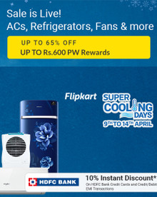 Flipkart Cooling Days   Upto 65% Off on ACs, Refrigerators, Air Coolers & More + 10% Discount via HDFC Cards