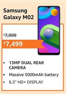 Samsung Galaxy M02 (Black,2GB RAM, 32GB Storage)