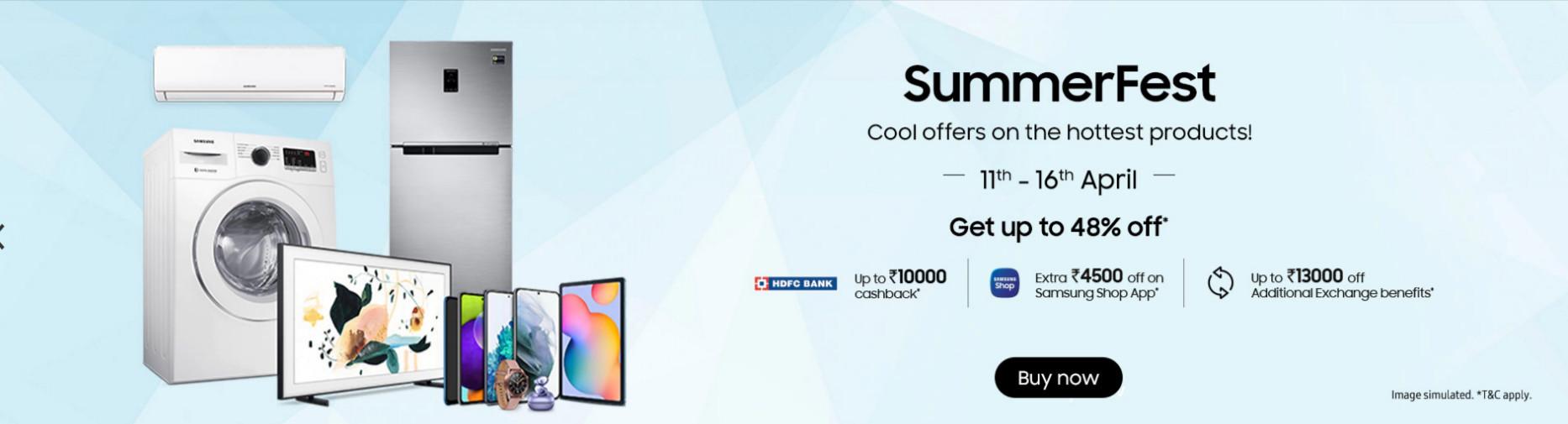 Samsung Summer Sale Offers