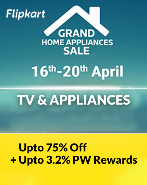 GRAND HOME APPLIANCES SALE | Up to 75% Off on TVs & Home Appliances + Extra 10% Off on Axis Bank Cards