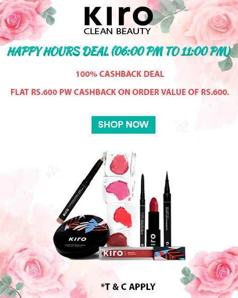 HAPPY HOURS DEAL | Flat Rs.600 Cashback on Orders of Rs.600