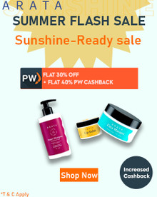 SUMMER FLASH SALE | Flat 30% Off + Extra Rs.499 All Arata Summer Care Products