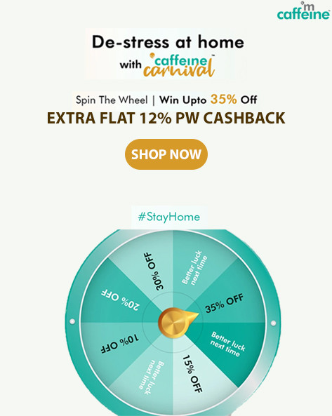 SPIN THE WHEEL | Win Upto 35% Off + Extra 15% Off with Caffeine Carnival