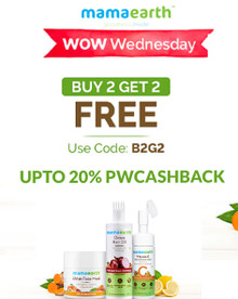 WOW WEDNESDAY | Buy 2 Get 2 FREE on Mamaearth Products