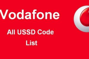 Vodafone all USSD code list