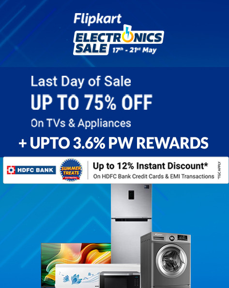 ELECTRONICS SALE | Upto 75% Off on TV & Appliances + Up to 12% Off on HDFC Bank Credit Card & EMI Transactions