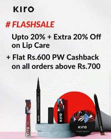 SUNDAY FLASH SALE | Flat Rs.600 PW Cashback on Orders of Rs.700