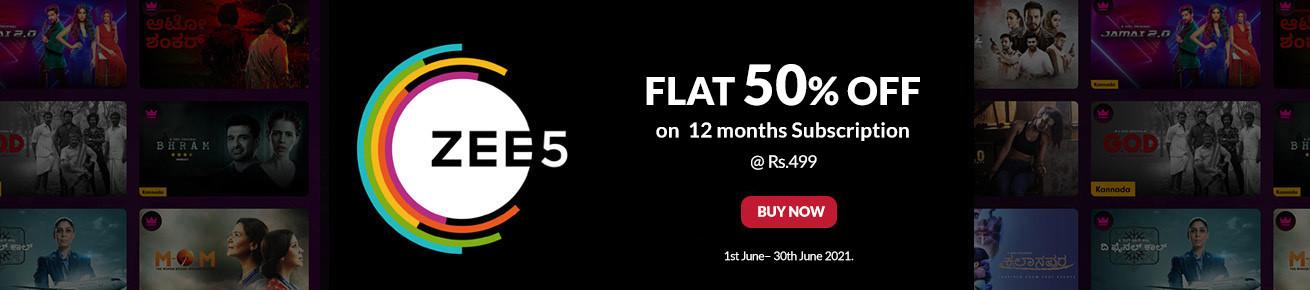 Flat 50% off on Zee5 Gift Card