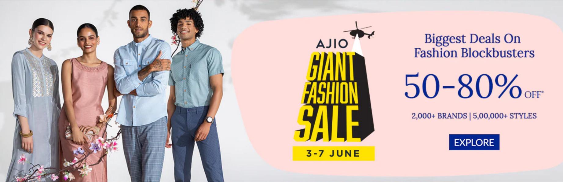 Ajio Giant Fashion Sale 2021