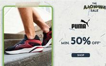Get minimum 50% Off on Puma