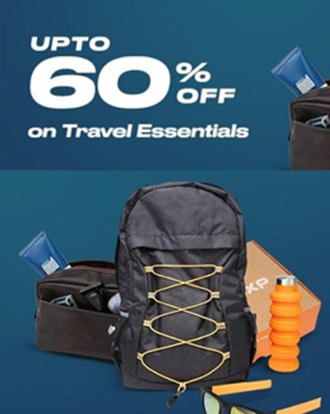 FATHER'S DAY SALE | Upto 60% off on Travel Essentials + Upto 15% PW Cashback