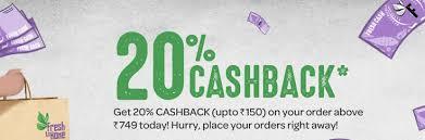 FreshToHome Cashback