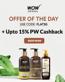 EXCLUSIVE OFFER   Flat 30% Off On Wow Skin Care, Hair Care & More