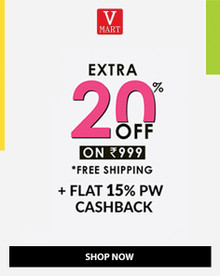 Buy 1 Get 1 Free + Extra 20% Off on Prepaid Shopping of Order of Rs.899