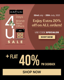 KAPIVA 4 DAY MONTHLY SALE | Enjoy Extra 20% Off on All Orders