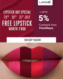 LAKME LIPSTICK DAY SPECIAL | FREE Liquid Lipstick Worth Rs.800 on Every Order