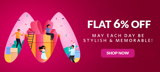 Flat 6% Off on Myntra E Gift Cards