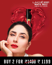 MATTE THAT FEELS LIKE LOVE | Buy 02 at Rs.1199 Lakme Absolute Matte Melt Liquid Lip Color