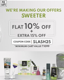 Flat 10% Off + Extra 15% Off on Min. Orders of Rs.1099