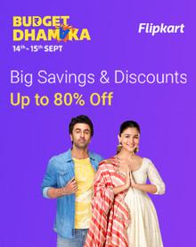 Flipkart BUDGET DHAMAKA | Upto 80% Off on Clothing, Footwear & Accessories
