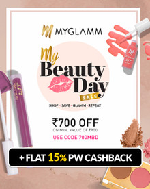 MYGLAMM BEAUTY DAY SALE | Flat Rs.700 Off on Min. Purchase of Rs.900