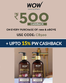 EXCLUSIVE | Flat Rs.500 Cashback Voucher on Every Purchase on Orders of Rs.999 Above