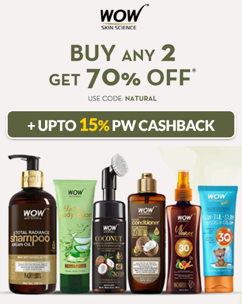 FLASH SALE | Buy Any 2 Get 70% Off on WOW SKIN Products