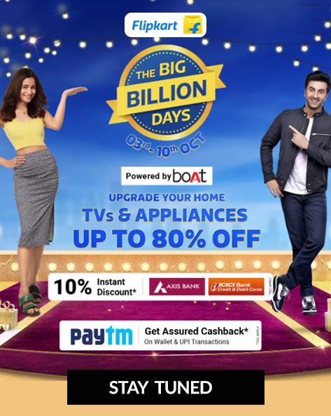 Flipkart Big Billion Offers on TVs & Appliances