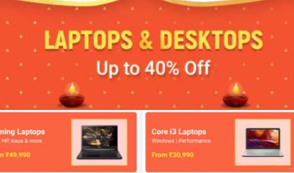 BIG DIWALI SALE | Upto 40% Off on Laptops & Desktops + 10% Off On SBI Credit Cards